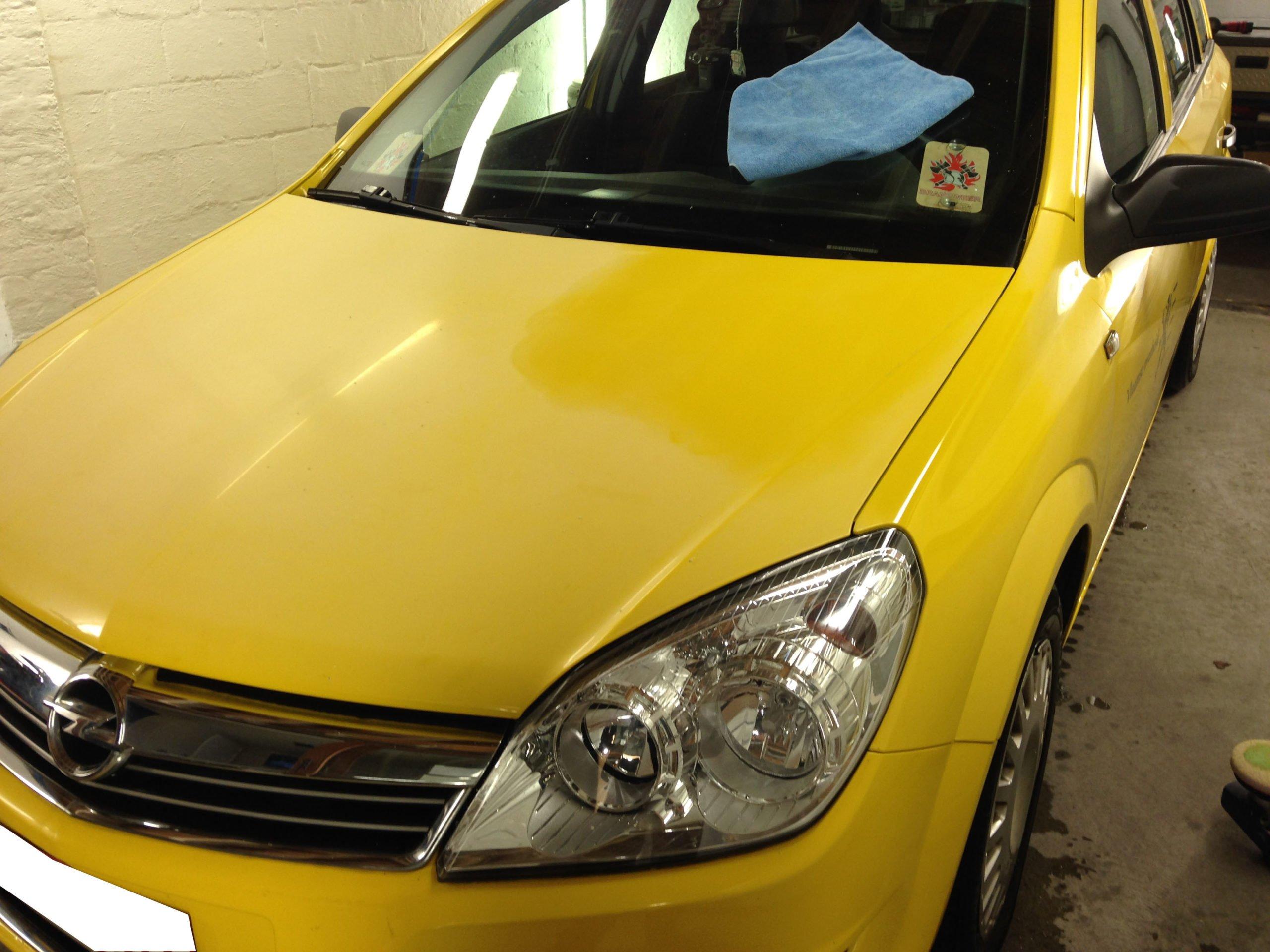 simoniseren paint renovation Opel Astra