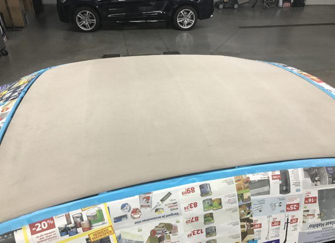 Cabrio dak reinigen Fiat 500